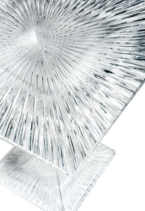 Table by Tokujin Yoshioka for Kartell sparkles like crystal glass