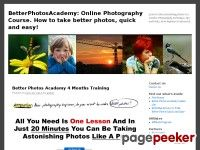 Better Photos Academy 4 Months Training - BetterPhotosAcademy: Online Photography Course. How to take  better photos, quick and easy!