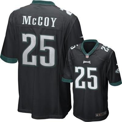 LeSean McCoy Black Nike Game NFL Philadelphia Eagles Jersey