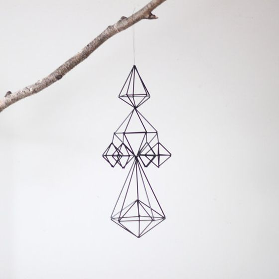 These himmeli straw mobiles from AM radio