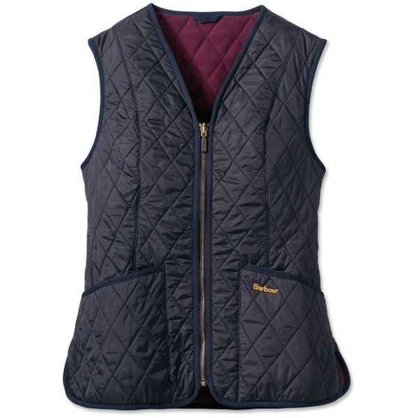 Barbour Women's Fleece Betty Gilet / Barbour Women's Fleece Betty... ($129) ❤ liked on Polyvore featuring outerwear, vests, v neck vest, barbour vest, quilted zip vest, barbour gilet and zipper vest