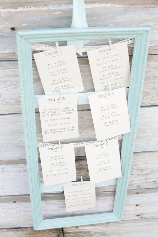 Plan de table cadre simple