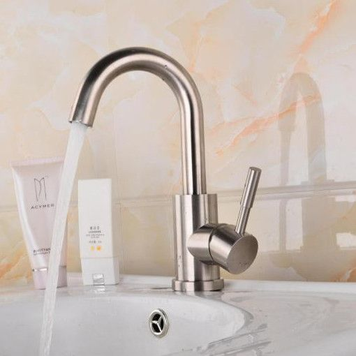 Free shipping Leadfree kitchen mixer tap with 304 stainless steel kitchen sink mixer tap of healthy kitchen sink mixer taps