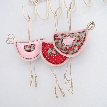 hanging birdy decoration by honeypips | notonthehighstreet.com