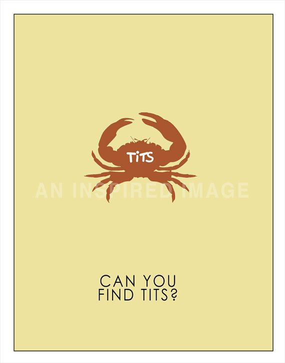 Derek Ricky Gervais Crabs Poster Art Print 8 X by AnInspiredImage, $19.95