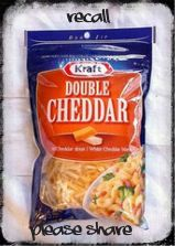 RECALL - Kraft Double Cheddar Shredded Cheese #Canada