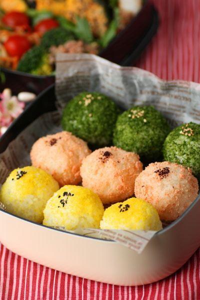 Japanese Rice Balls Boxed-Lunch | Onigiri Bento おにぎり弁当