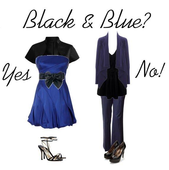 Abbinamenti vestiti nero e blu