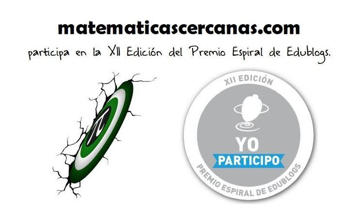 matematicascercanas participa en el XII Premio Espiral Edublogs.