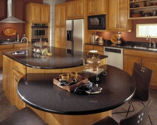 Corian countertop in contemporary kitchen 6 Countertops That Put Granite to Shame