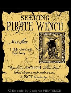 Seeking Pirate Wench