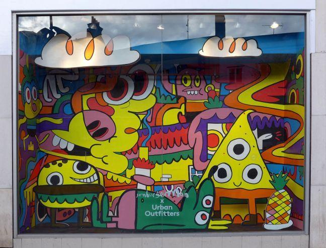 Urban Outfitters window display | Jon Burgerman