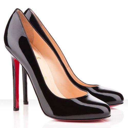 Christian Louboutin Lady Lynch 120mm Patent Leather Pumps Black