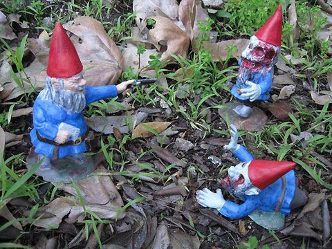 Zombie Garden Gnomes by Chris Stever and Jane DeRosa