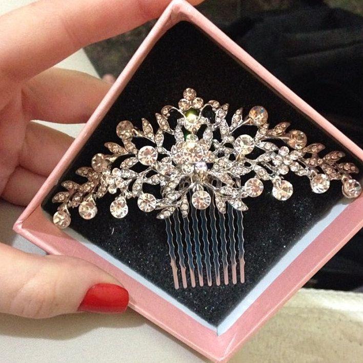 Top Kualitas New Fashion Aksesoris Rambut Pernikahan Untuk Bride Berlian Imitasi Kristal Sisir Rambut Potongan Rambut Rambut Perhiasan Untuk Wanita XLL2