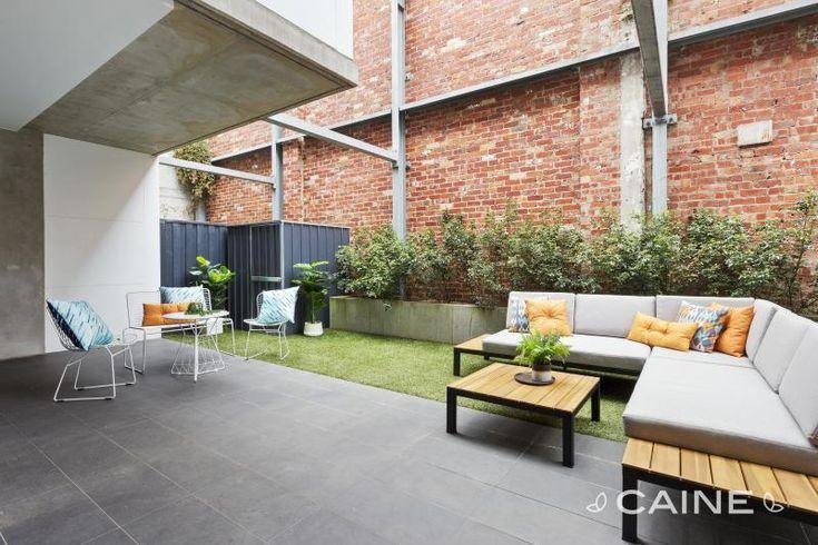 Low maintenance industrial outdoor space