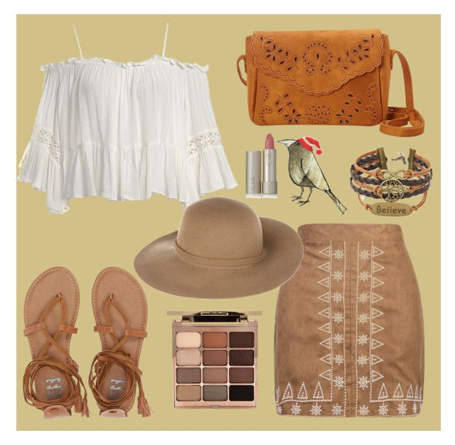 """Boho 😏"" by alice-isabella on Polyvore featuring moda, WithChic, Sans Souci, Billabong, Nu-G, Armani Jeans, Stila y Ilia"