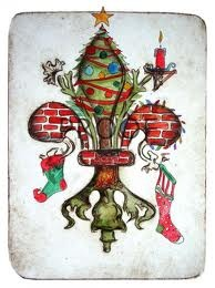 Christmas Fleur De Lis from an artist in Louisiana. Thought of you heather!  Stacey I LOVE!!!!!!