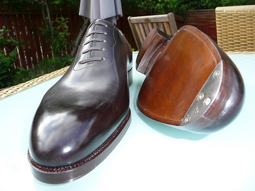 Saint Crispin's model 114 - seamless oxford with steel tips