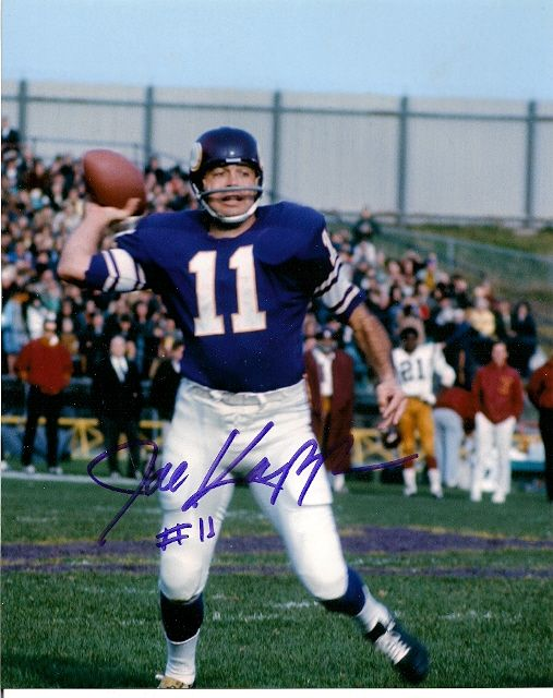 Joe Kapp Autographed Football 8x10-Minnesota Vikings