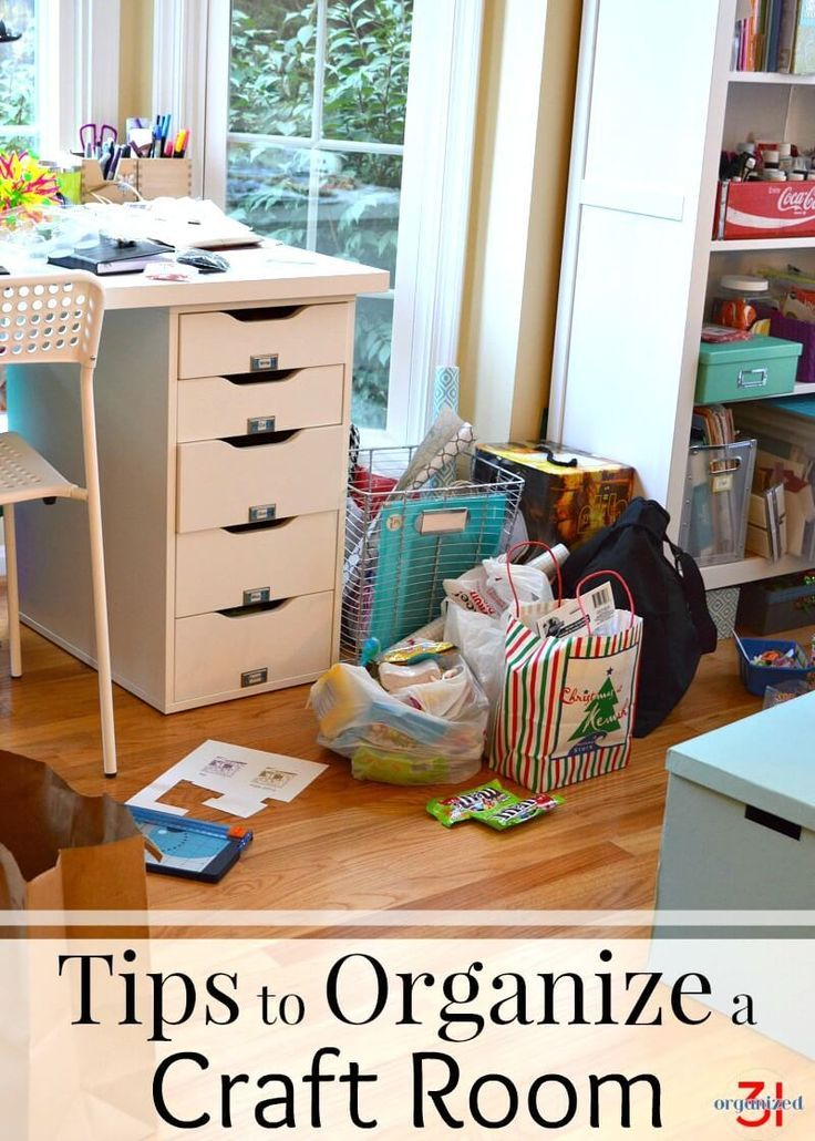 Simple tips to organize a craft room