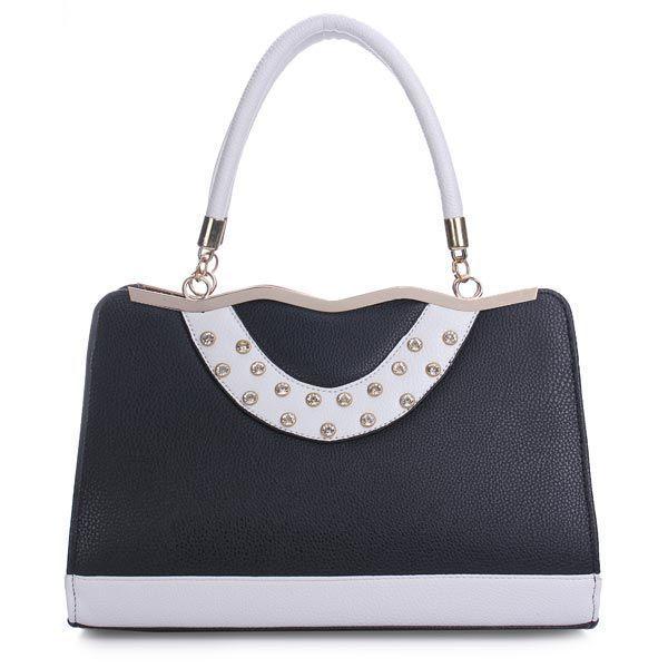 Fashion elegant pu leather rhinestone decorated handbag crossbody bag z  spoke handbags  boutique  9 04d578a232