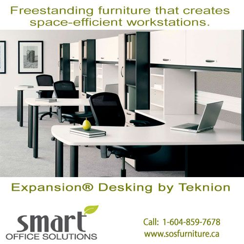 Designed to permit a creative approach to space planning, Expansion® Desking is a comprehensive line of freestanding furniture that creates space-efficient workstations. Request your quote today! 1-604-859-7678.