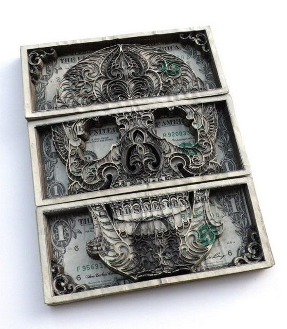Stacks of Money Turned Into 3D Carvings