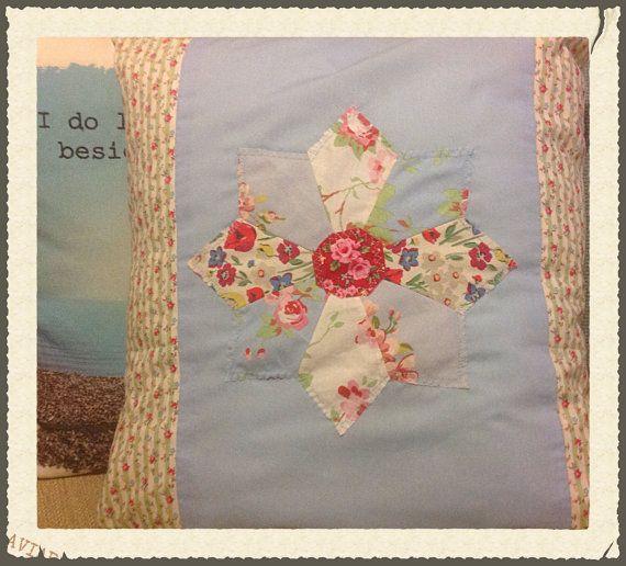 Cath Kidston fabric patchwork cushion