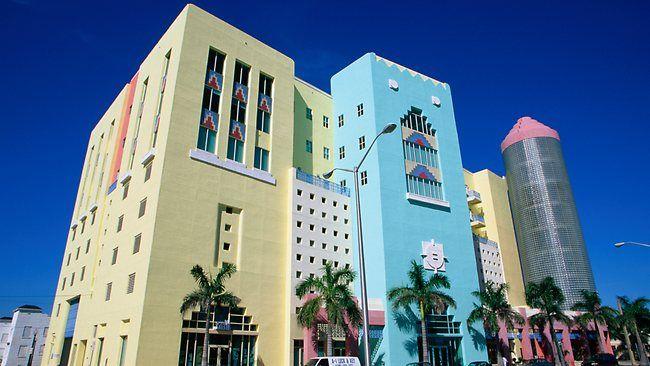 Part of the Art Deco District in Miami, FL