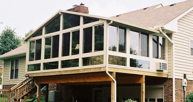 Raised Deck Sunroom Covered 2nd Floor Deck Sunroom