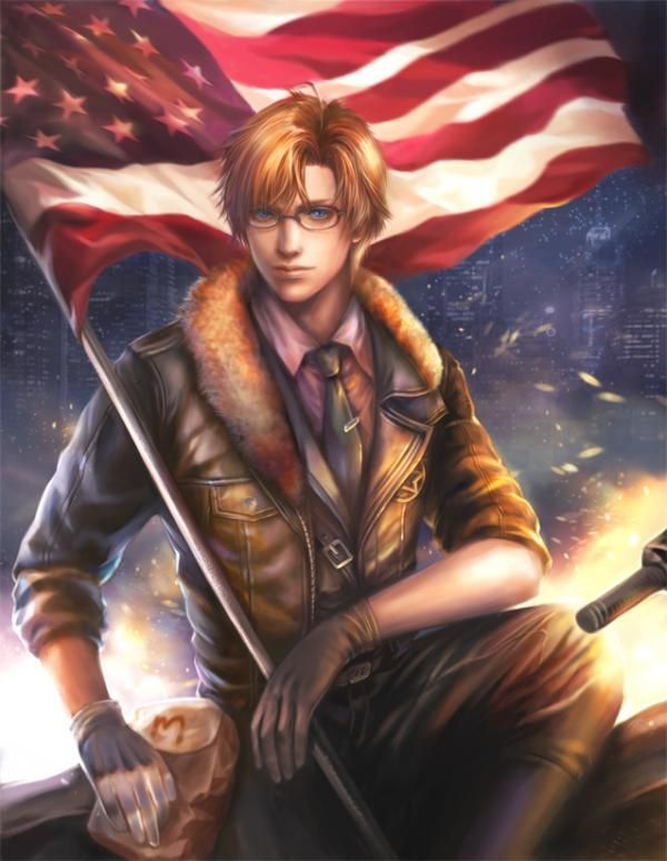 God bless america print by Yang Fan (Axis Power Hetalia)