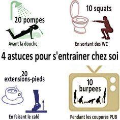 4 astuces pour faire du #sport chez soi http://entrainement-sportif.fr/musculation-maison.htm