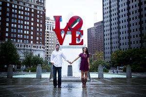Love Park Engagement Photos, Philadelphia Engagement Shoot, Love Park Engagement Shoot www.leahdanielsphotography.com