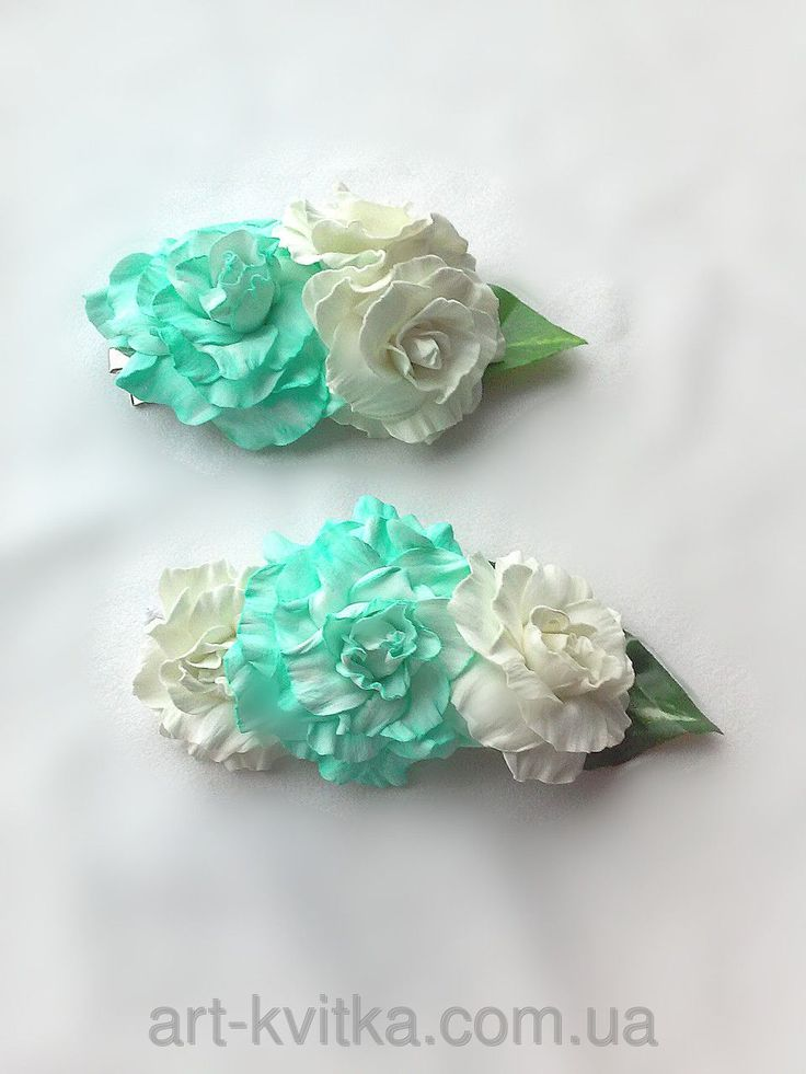 Свадебная заколка и бутоньерка. Заколка для невесты, #бутоньерка свидетелям, тиффани, мятный цвет, #мятные цветы ручной работы. #Wedding flower crown, bridal hair flowers, boutonnier, groom boutonnier.