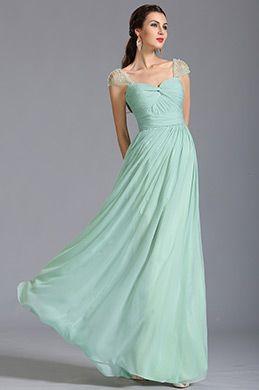 Vestido verde menta de dama