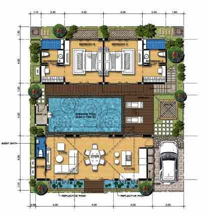 House for Sale by Owner, Jasmine  Villa,  Pool Garden Bali Style House