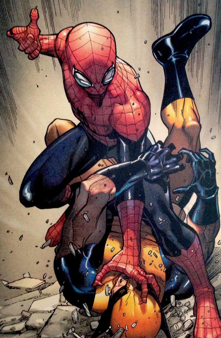 The Superior Spider-Man Takes Down Wolverine - Paco Medina | HW