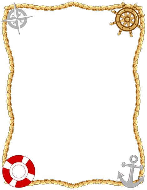 Printable nautical border. Free GIF, JPG, PDF, and PNG downloads at http://pageborders.org/download/nautical-border/