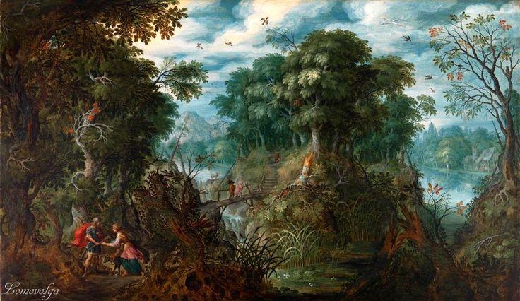 Alexander Keirincx Landscape with Cephalus and Procris painting