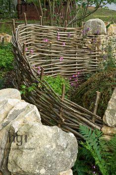 dry, stone, wall, woven, hazel, hurdle, fence, natural, wild ,