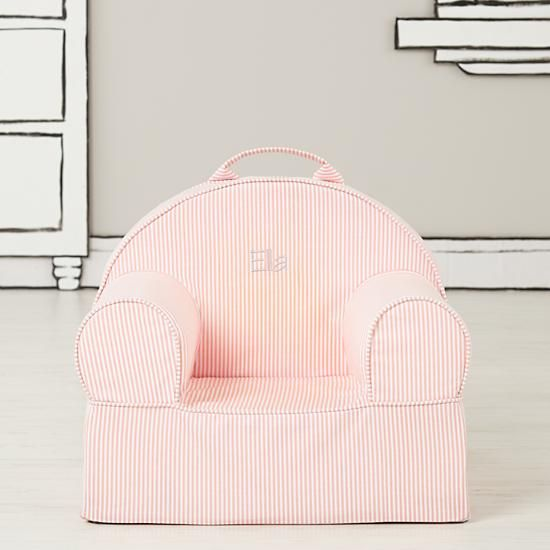 Entry Level Personalized Nod Chair Cover (Pink Stripe)  | The Land of Nod