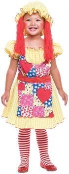CostumePub.com - Girl's Rag Doll Costume