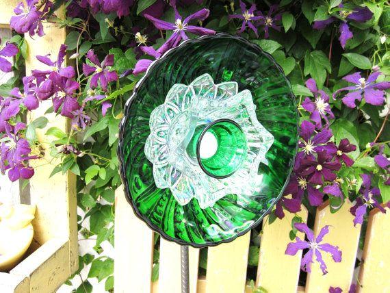 17 best images about garden totems on pinterest gardens - Recycled glass garden art ...