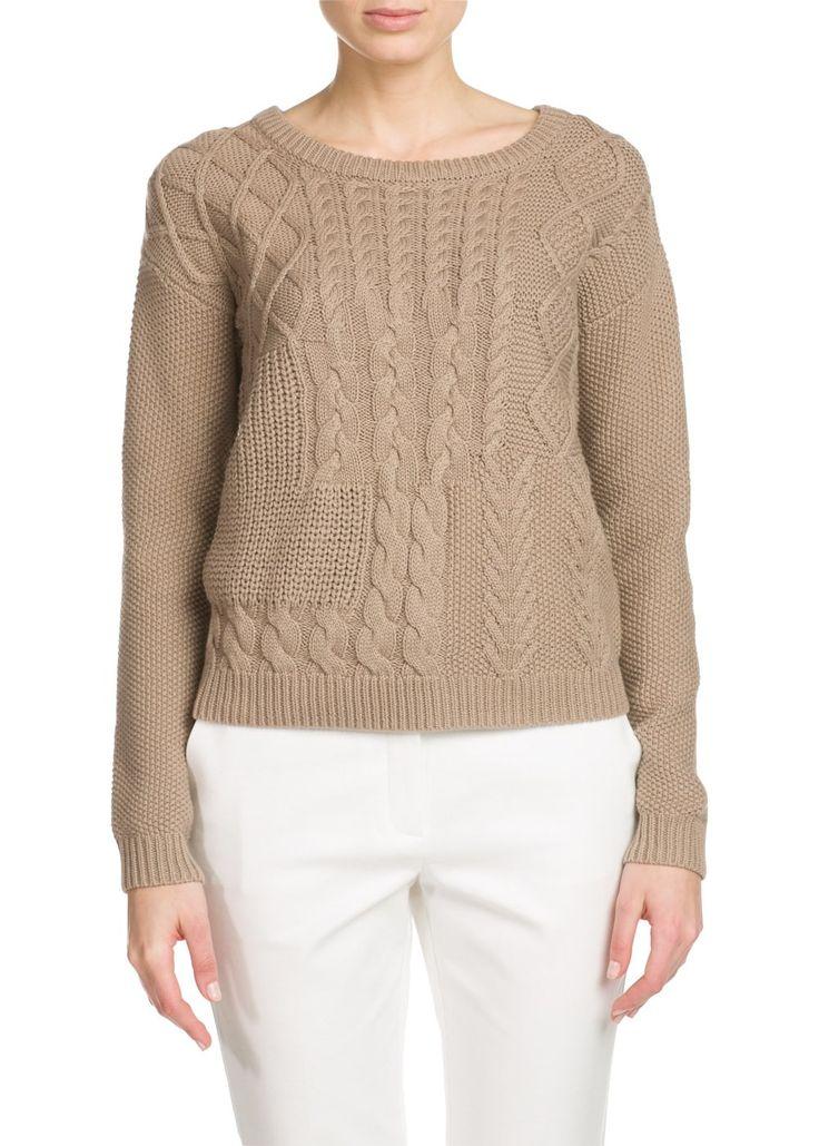 Jersey algodón ochos - Mujer | MANGO España