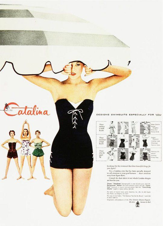 1950s pin up bathing suit ad | 1950's Vintage Fashion Style