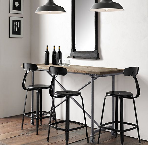 17 Best Images About Rolling Work Tables On Pinterest: 25+ Best Ideas About Bar Height Table On Pinterest