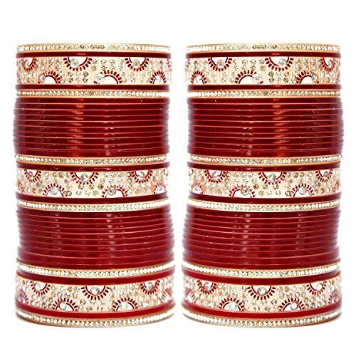 VVS Jewellers Bollywood Wedding Bridal Maroon Choora Trad... https://www.amazon.com/dp/B0728H9TL3/ref=cm_sw_r_pi_dp_x_3y6jzbCVNR7X7