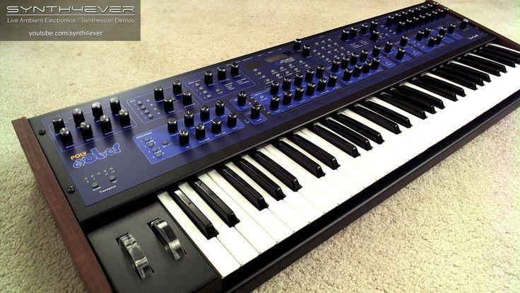 Dave Smith Instruments (DSI) POLY EVOLVER - 12 voice analog/digital hybrid synthesizer.