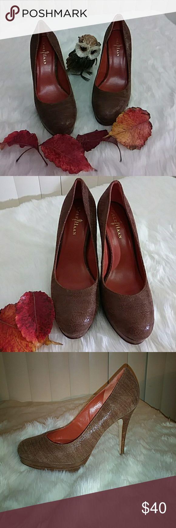 COLE HAAN🍁Sale🍁 Gorgeous brown burnt orange heel love them too big 🍁💜🍁 Cole Haan Shoes Heels